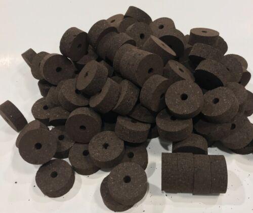 "Cork Rings  36 Superior Burnt Burl  1 1/4"" X 1/2 ""X1/4"", Solid Dark Color!"