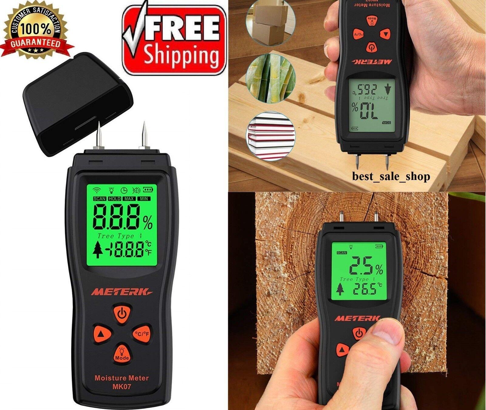 Digital Moisture Meter Detector Tester Wood Firewood Timber