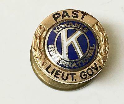 Vintage 14kt Kiwanis International Button, Past Lieutenant Governor
