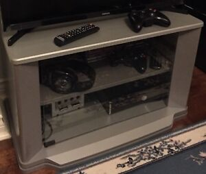 Solid Wooden Grey Tv Stand