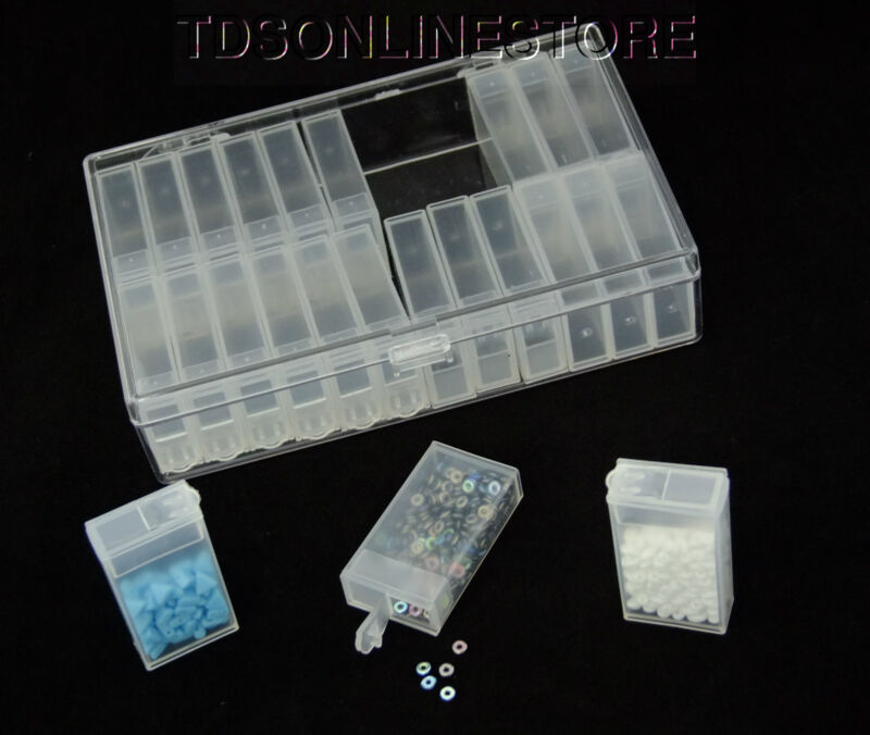 Storage Case with 24 Inner Boxes for Beads or Findings