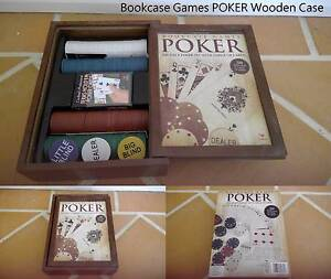 Bookcase Games POKER Wooden Case Doubleview Stirling Area Preview