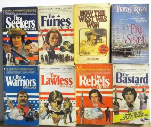 8 WESTERN FRONTIER John Jakes more NOVELS Free US Shipping Read List Lot #H582