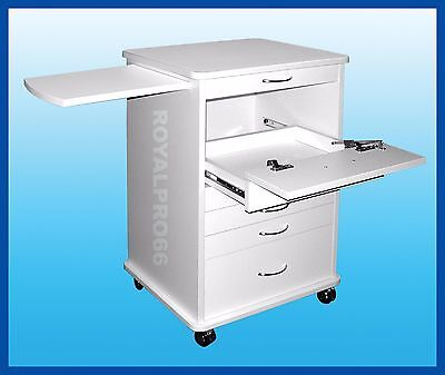 Medical Dental Equipment North Carolina Doctors Mobile Cabinet Cart White