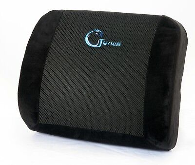 LUMBAR SUPPORT FOR OFFICE CHAIR, CAR OR RECLINER; CUSHION BACK PILLOW - BLACK