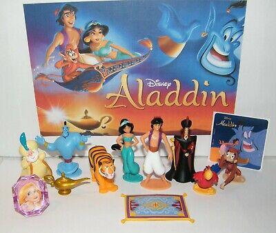 Disney Princess Set (Disney Aladdin Movie Figure Set of 10 Deluxe with Bonus Toy Ring and Fun)