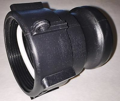 """275-330 Gn IBC Tote Tank HD 2""""  Female NPT Thread x2"""" cam lock drain adapter QDC"""