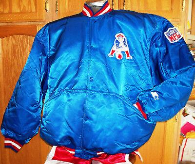 Vintage AUTHENTIC Starter NEW ENGLAND PATRIOTS Sideline Jacket -Steve Grogan