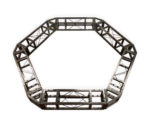 Metal 6.2ft Diameter Hexagonal Truss Circle, Six-Sided Lighting Square Truss