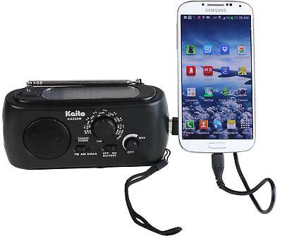 Kaito Solar Am Fm Noaa Weather Radio W  Flashlight   Cell Phone Charger  Ka332w