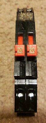 Zinsco- Challenger Thin Tandem Rc-38 2020 Twin 20 Amp Circuit Breaker