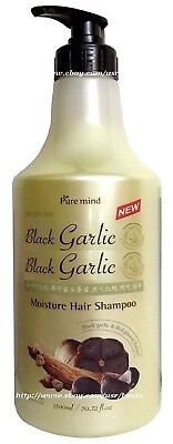 Moisturizing Black Hair - Black GARLIC & Moisturizing Hair Shampoo With PUMP 50.72 Oz / 1500mL