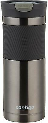 Stainless Steel Travel Coffee Mug Leak Proof Thermal Insulated 20 oz Silver