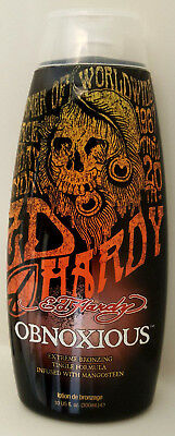 Bronzer Indoor Tanning Lotion (ED HARDY OBNOXIOUS INDOOR TANNING BED LOTION W/ TINGLE & BRONZER 10 Oz)