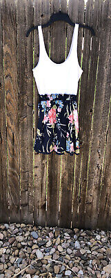 Abercrombie And Fitch Tank Dress White And Floral Print.  Size L