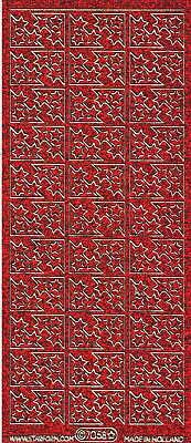 Micro-Glittersticker-Ecken-rot/gold-7058grg