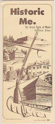 C1970 Maine Historic Sites Promotional Brochure