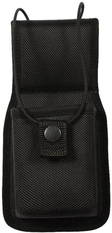 Black Radio Pouch Holder Universal for Duty Belt Uniform Molded Holster Case
