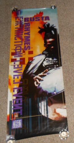 Busta Rhymes Extinction Level Event 1998 Door Original Poster 56x20 RARE