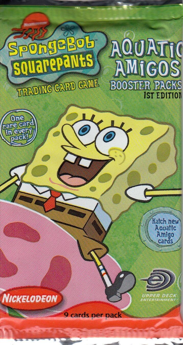 UPC 053334304719 product image for Spongebob Squarepants Trading Card Game Aquatic Amigos Booster Pack Ccg | upcitemdb.com