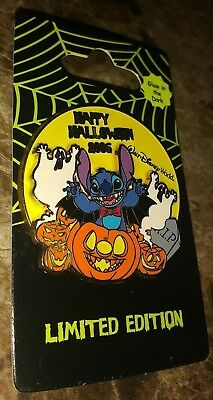 WDW DISNEY WORLD HAPPY HALLOWEEN 2006 STITCH AS BAT PUMPINS COLLECTIBLE PIN /LE