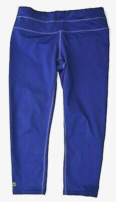 ATHLETA Sonar Capri Sapphire Down Activewear Leggings 341479-02 Womens S