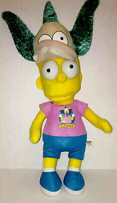 "Bart Simpson Costume (Bart Simpson Krusty Clown Costume Hat Plush 20"" The Simpsons Toy)"