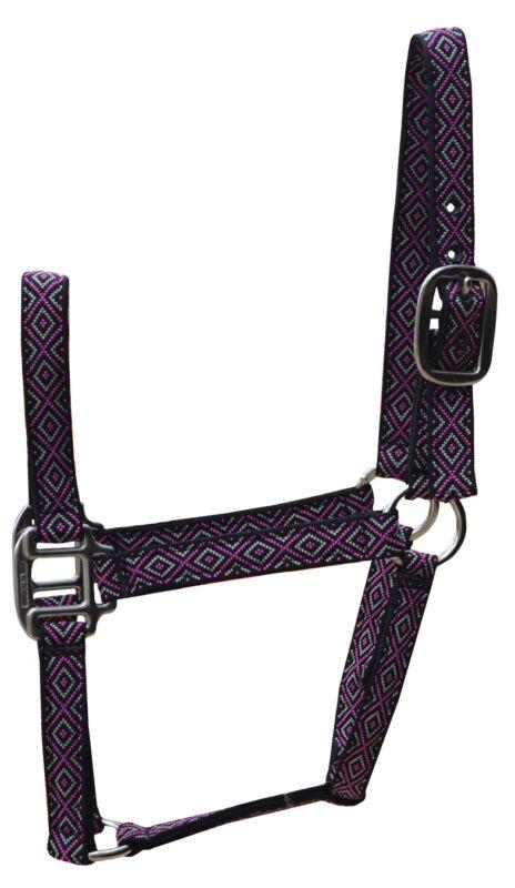 Halter - Horse Size - Diamond Pattern Nylon - Pack of 1  (B49)