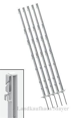 WEIDEZAUNPFÄHLE WEIDEPFAHL 40 ST. 156cm Weiß Pfähle Weidezaun Zaunpfähle