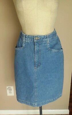 Wear Denim Skirts (DENIM & CO JEANS WEAR SKIRT WOMEN'S 100% Cotton Made In USA Size 10 )