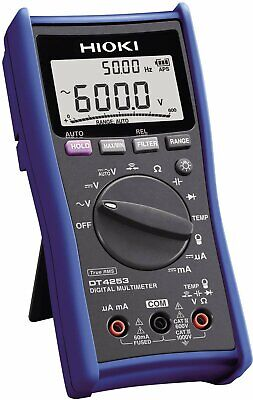 Hioki Dt4253 Standard Digital Multimeter With Temperature And Clamp Current Test
