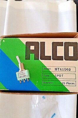 Alco Switch Mta106d On-none-on Spdt Mini Bat Handle Toggle Switch