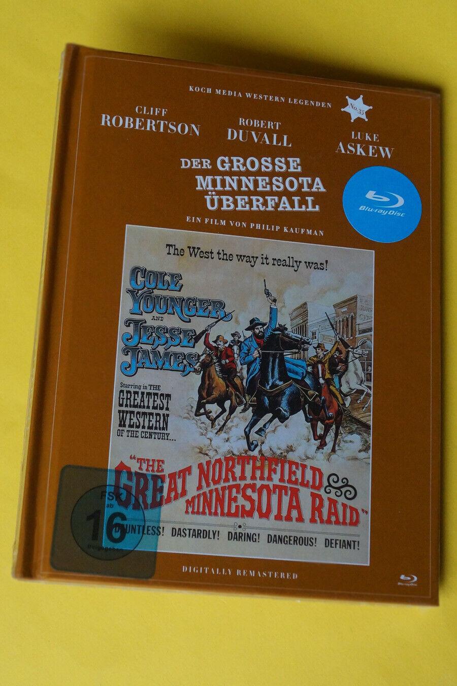 Der grosse Minnesota Überfall-Western Legenden No.35-Blu ray Mediabook-NEU/OVP