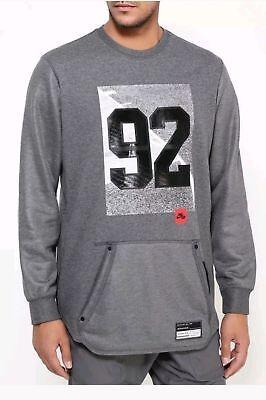 Nike Air 92 Crewneck Long Sleeve Sweatshirt Gray/Black 802640-071 Men's Size S