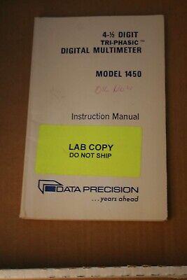 Data Precision Digital Multimeter Model 1450 Instruction Manual