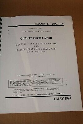 Hp Hewlett Packard Hp Quartz Oscilator 105a105b Calibration Manual Procedure