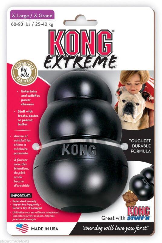 KONG Extreme Black Dog Chew Toy Tough Power Chewers XLarge