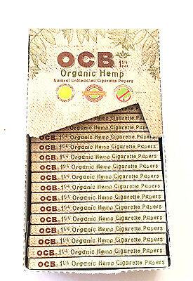 Ocb Rolling Papers - OCB Organic Hemp Cigarette Rolling Papers BOX -1 1/4 - 24 Packs- 50 Leaves each