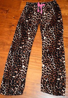 - Women's Tarea Rue 21 Brown Leopard Plush Slip On Sleep Lounge Pants Sizes S-XL