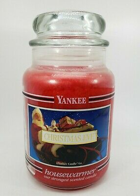 Yankee Candle Christmas Eve Black Band Label Large 22 oz Retired Rare