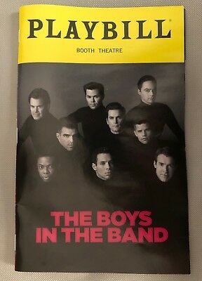 The Boys In The Band Playbill Broadway Bomer Parsons Quinto Rannells Watkins NEW