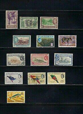 BRITSH HONDURAS.  LOT. 13 STAMPS  1938-1968   Cancel.