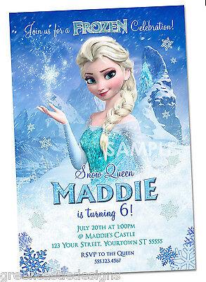 Disney Frozen Invitations * Personalized Frozen Party Invitations Elsa - Frozen Custom Invitations