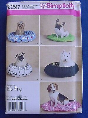 Simplicity Sewing Pattern #2297 Dog Bed Pillow  brand new uncut