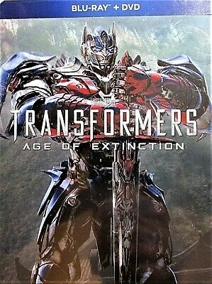 TRANSFORMERS: AGE OF EXTINCTION BLU RAY + DVD Steelbook (Target Exclusive)  NEW