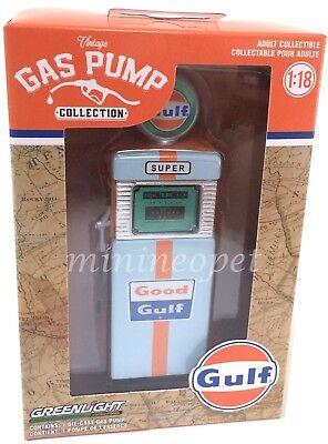Greenlight 14010 A 1951 Wayne 505 Gulf Oil Gas Pump For 1 18 Diecast Car Chase