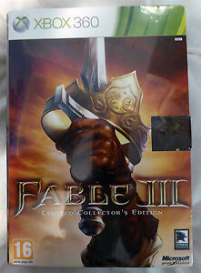 Fable III 3 -- Limited Collector's Edition (Microsoft Xbox 360, 2010) NEW Sealed