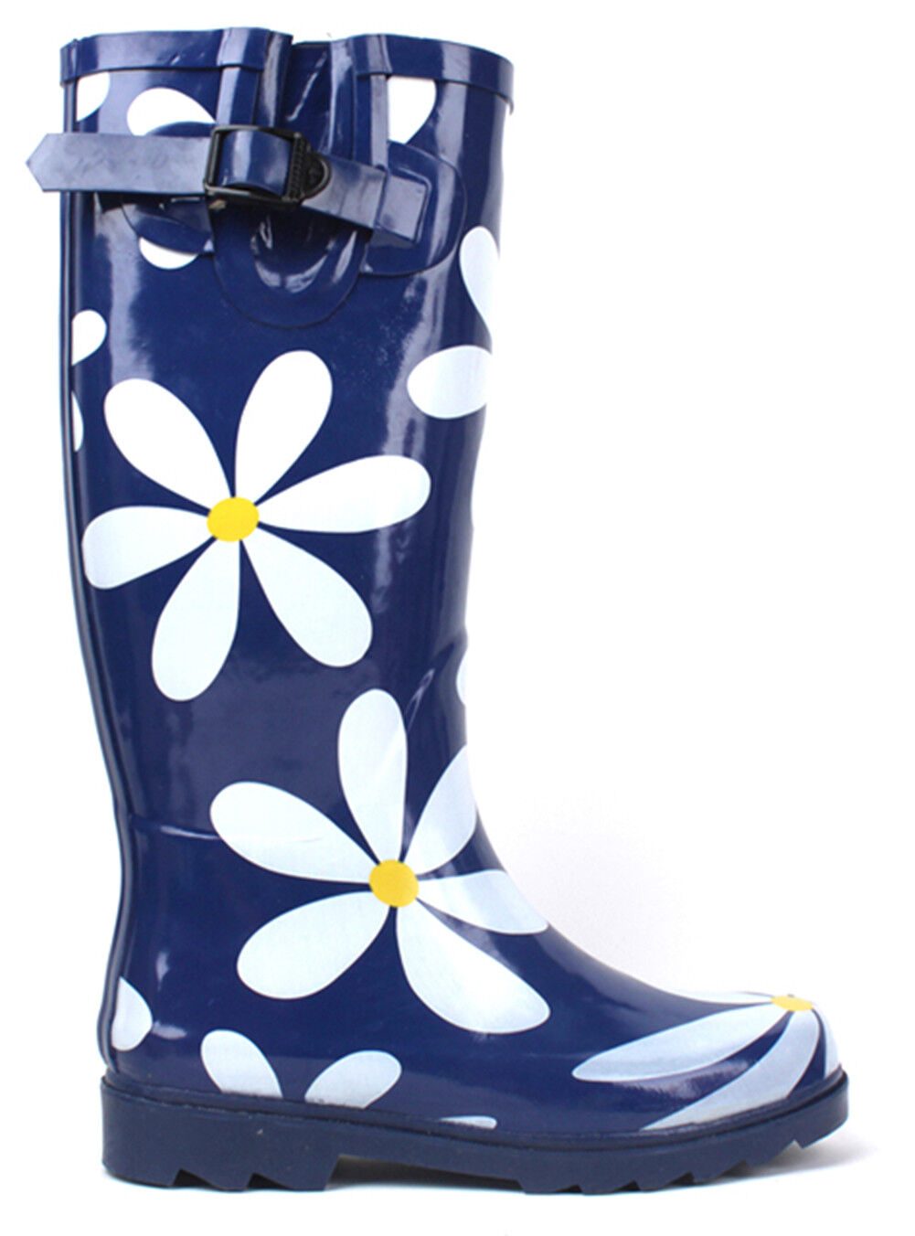 New Womens Flat Wellies\ Mid Calf Rubber Rain & Snow Boots Rain Boots,Size 5-11