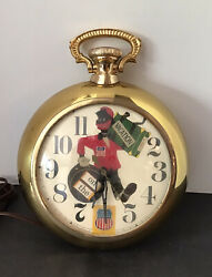 VTG UNION PACIFIC RAILROAD BLACK AMERICANA POCKET WATCH WALL CLOCK 1939-40 WORKS
