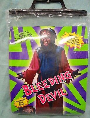 Halloween 7 PC BLEEDING DEVIL Costume SZ 8 - 10 CHILD MED Black HOOD Girl BOY ](Devil Costume For Boy Halloween)